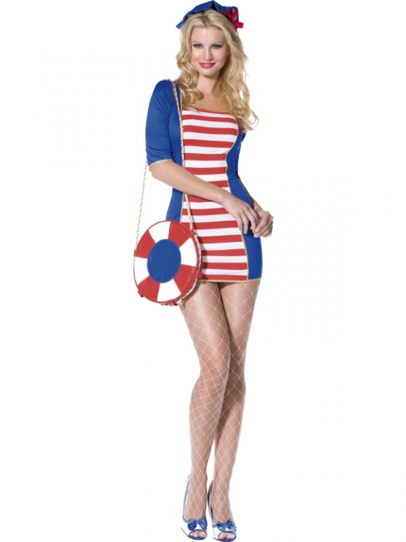 Nautical Theme Costumes http://www.alteredimagefancydress.com/ladies-nautical-sailor-costume-8643-p